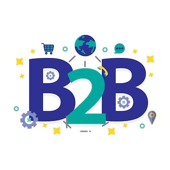 Business to business hintergrund