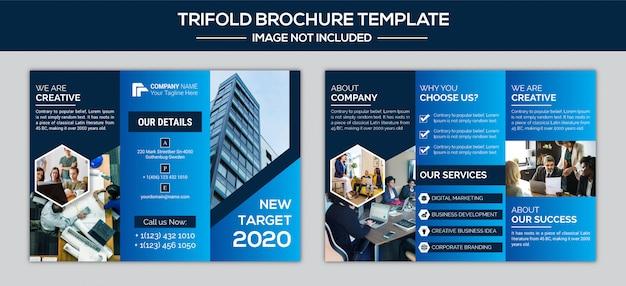 Business trifold broschüre design-vorlage