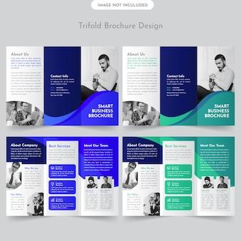 Business trifold broschüre design