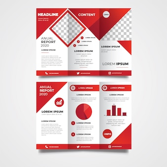 Business trifold broschüre vorlage design
