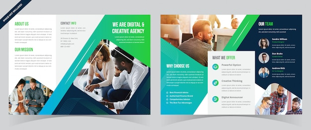 Business-trifold-broschüre