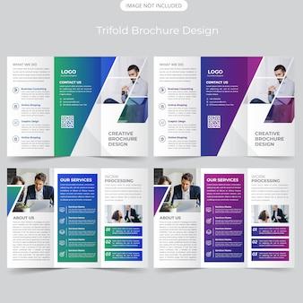 Business trifold-broschüren-design