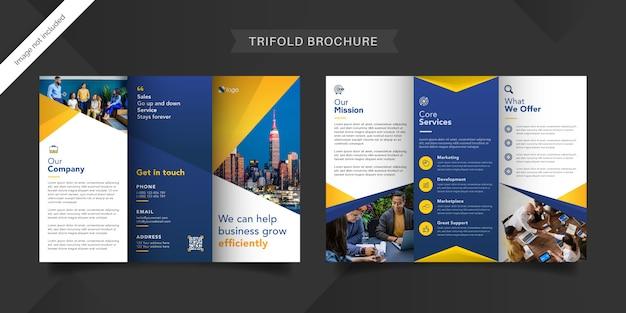 Business-trifold-broschürenvorlage