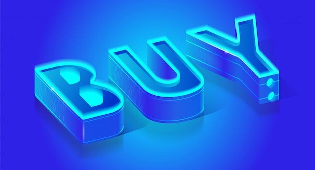 Business-typografie-banner-seite mit call-to-buy