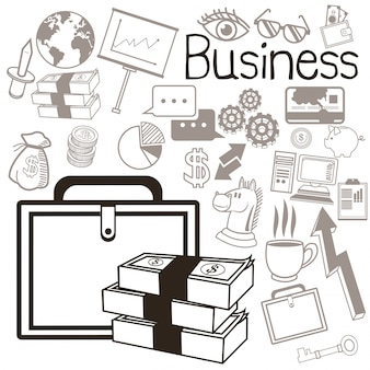 Business- und icon-set