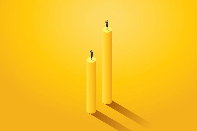 Business verschiedene ungleiche karrieremöglichkeiten zwischen mann und frau illustration vector