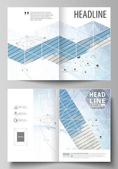 Business-vorlagen für bi-fold-broschüre, flyer, bericht.
