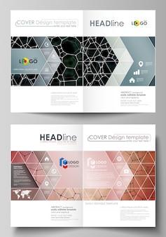 Business-vorlagen für bi-fold-broschüre, flyer.