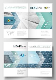 Business-vorlagen für broschüre, flyer, broschüre, bericht.