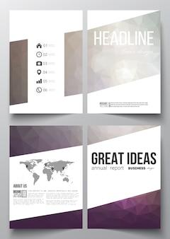 Business-vorlagen für die broschüre