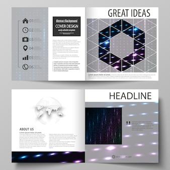 Business-vorlagen für quadratische broschüren