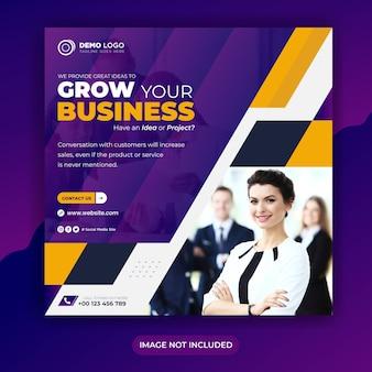 Business wachsen agentur social media banner vorlage