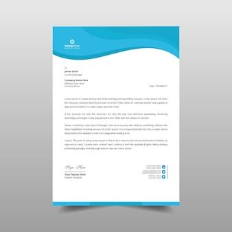 Business wave briefkopf vorlage design illustration