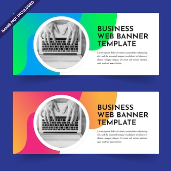 Business web banner template-design