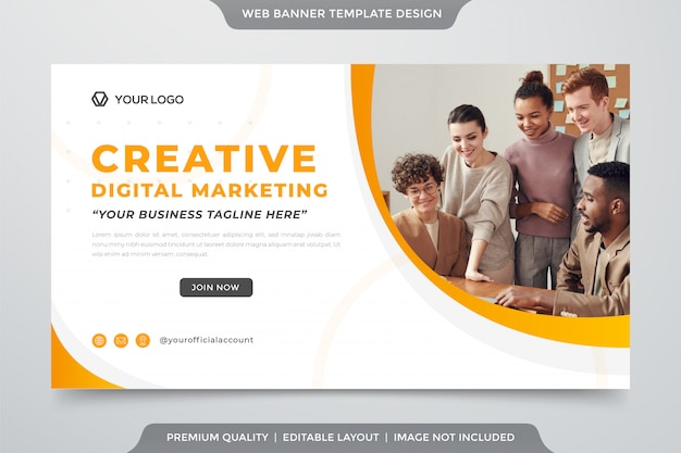 Business web banner vorlage