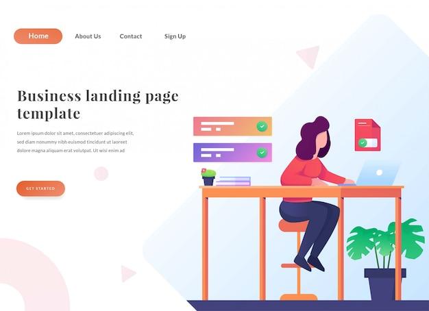 Business web landing page zeit zu arbeiten