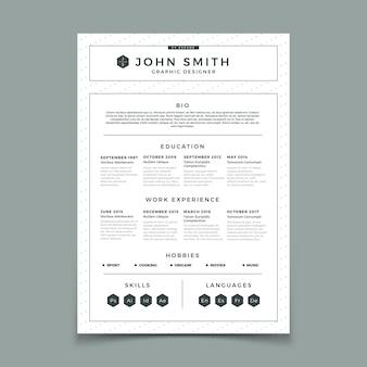 Business-web- und print-design-vorlage mit persönlicher berufserfahrung