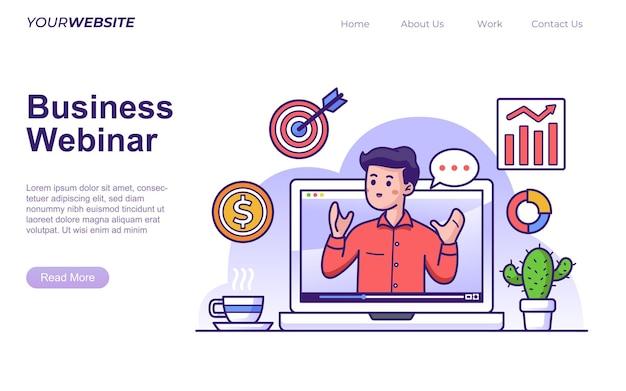 Business-webinar-konzept