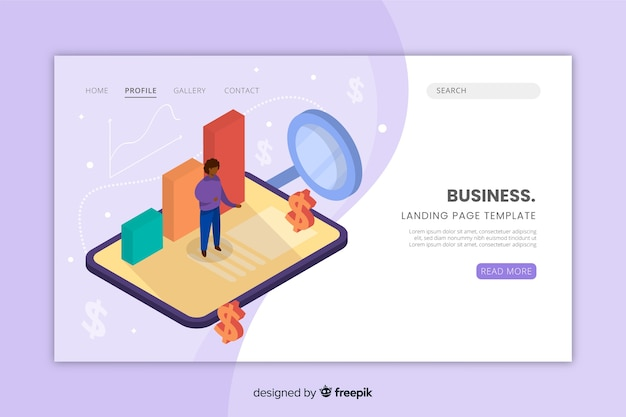 Business-website-landing-page-vorlage