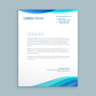 Business-welle briefpapier-design