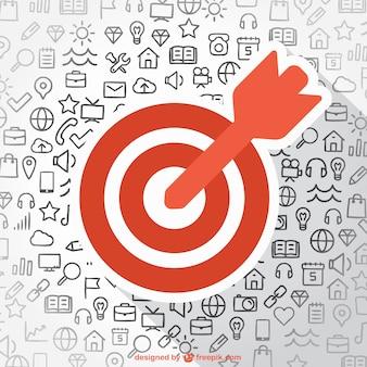 Business ziel symbole