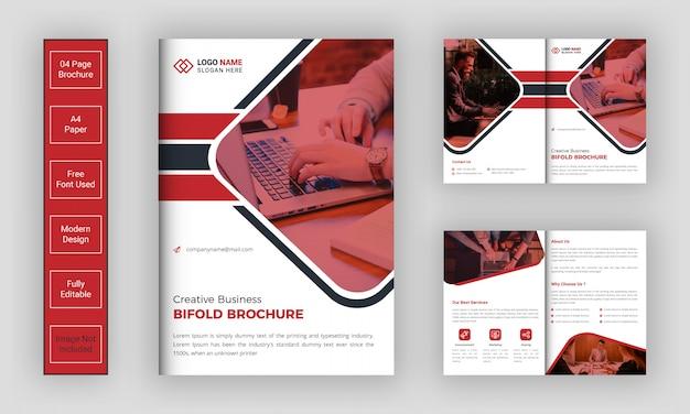 Business zweifache broschürenvorlage