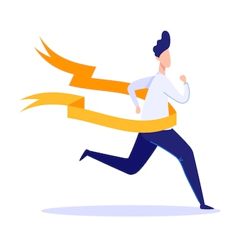 Businessman crossing finish line geschäftserfolg.