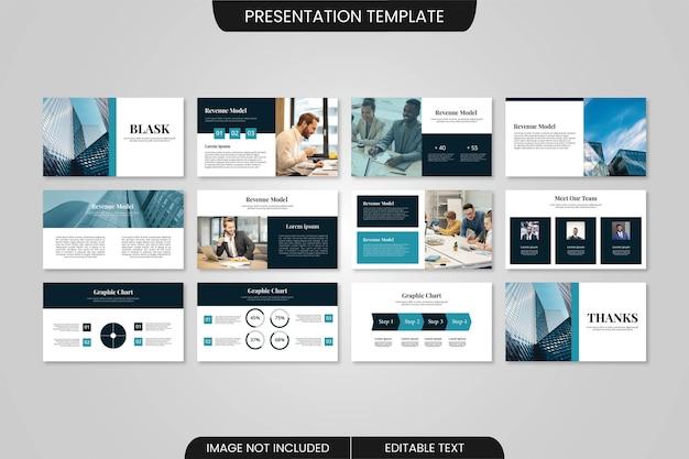 Businessminimal powerpoint-präsentationsvorlagendesign