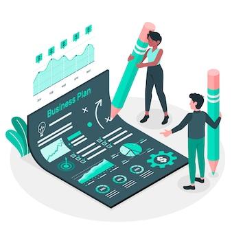 Businessplan-konzeptillustration