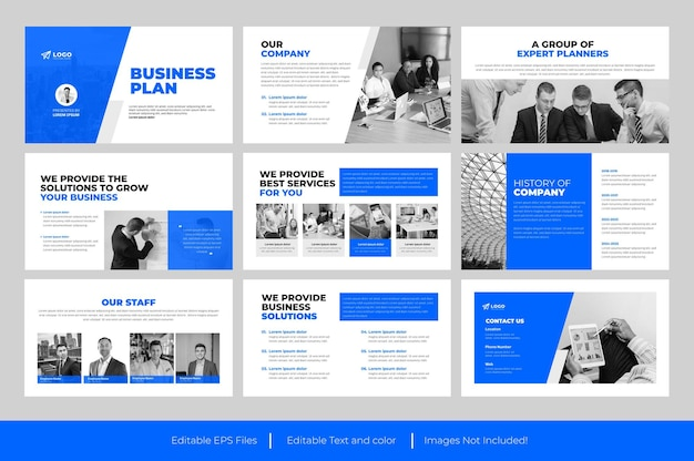 Businessplan-powerpoint-vorlage oder businessplan-präsentationsfoliendesign