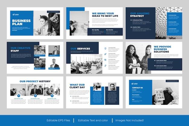 Businessplan powerpoint-vorlagendesign