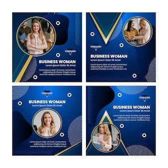 Businesswoman instagram beiträge sammlung