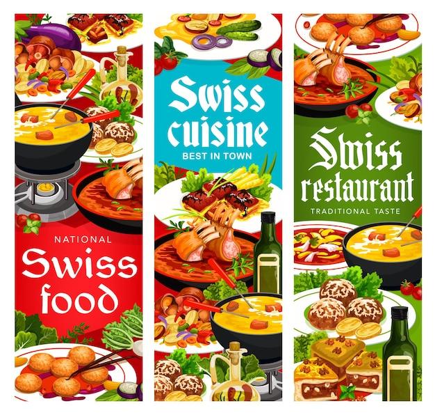Busseco-suppe mit schweizer küche, raclette mit kartoffeln und bretonischen zobelkeksen