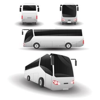 Bustransportansichten setzen abbildungen