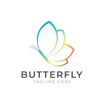 Butterfly beauty spa vector logo template, dieses logo symbolisiert einige dinge, die schön, weich, ruhig, natur, metamorphose, anmutig und elegant sind.