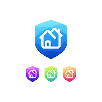 Button home badge schalter sicher