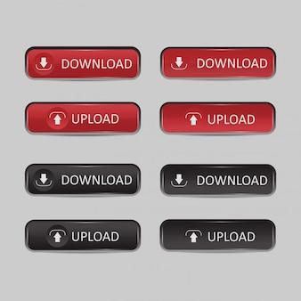 Button set download und upload
