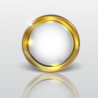 Button web glänzend weißgold