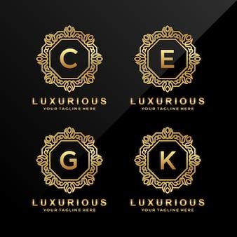 C, e, g, k luxus buchstaben logo