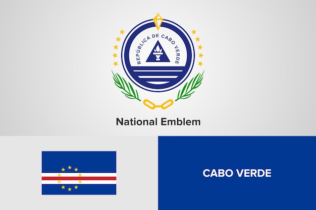 Cabo verde national emblem flag vorlage