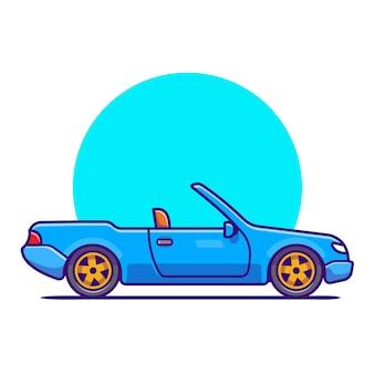 Cabriolet-autokarikatur. fahrzeugtransport isoliert