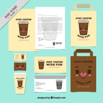 Café-briefpapier