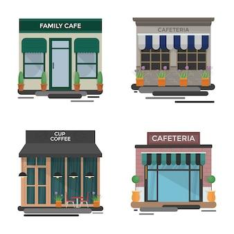 Cafe im freien illustrationen