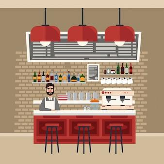Cafe interior restaurant