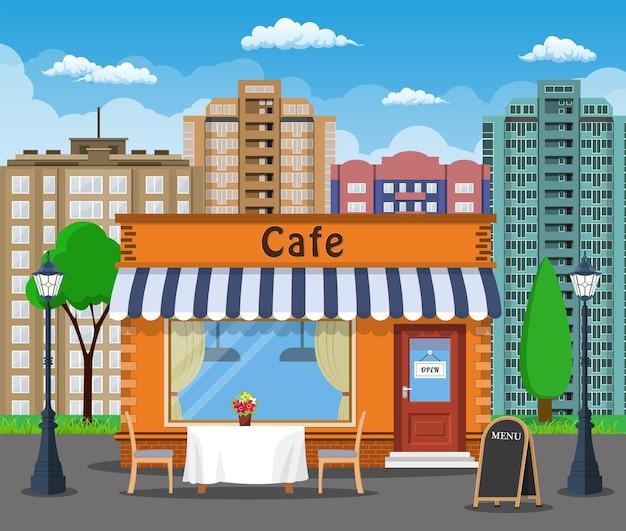 Café-laden außen