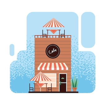 Café-laden mit terrasse