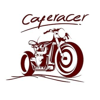 Café-rennfahrer Premium Vektoren