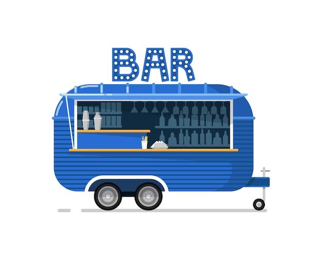 Café-service-ikone der bar im freien