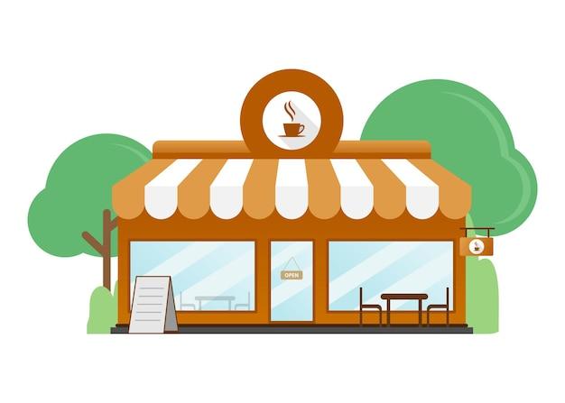 Cafe shop, café flaches design