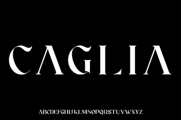 Caglia, der luxuriöse und elegante schrift-glamour-stil